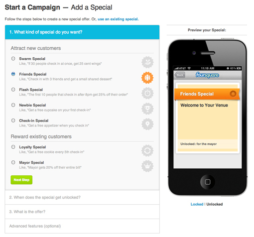 FourSquare-Specials-Add-Campaign