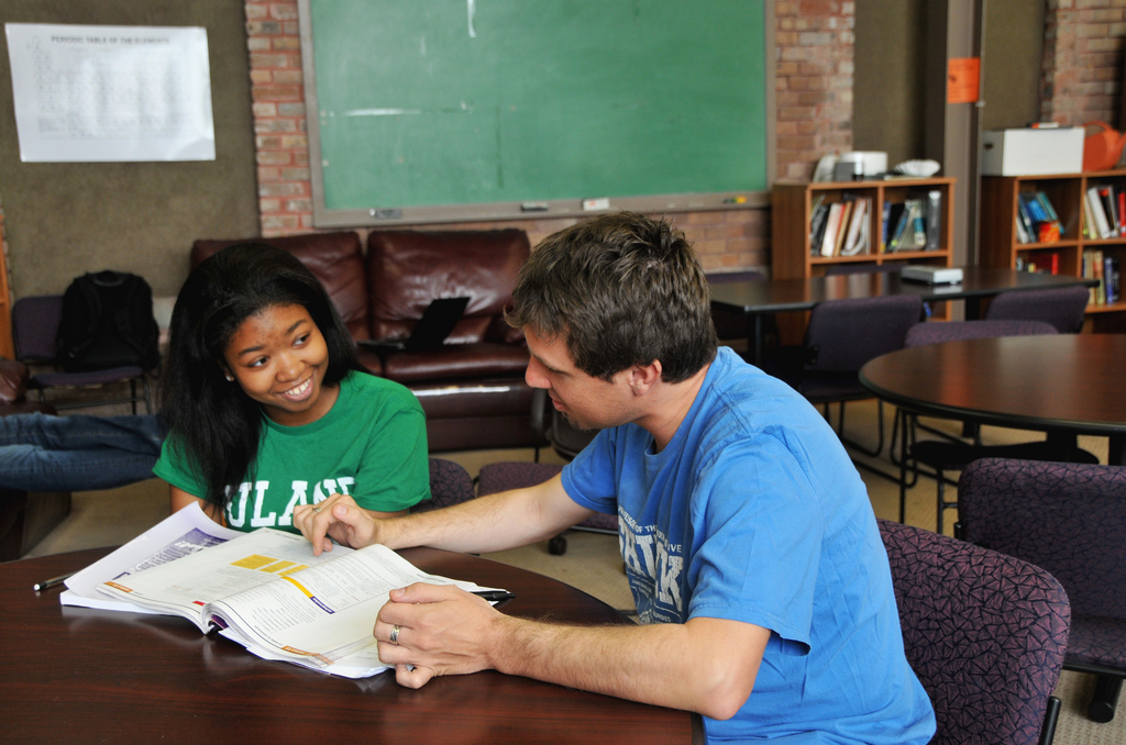 minority student receiving free tutoring