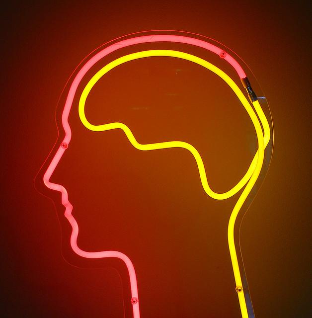 neon brain image
