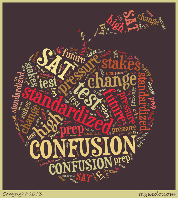 SAT change word cloud